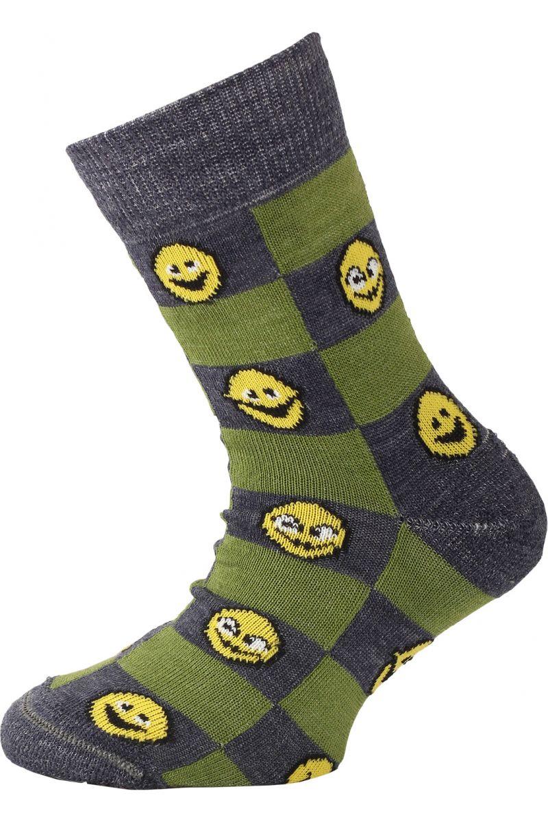 Lasting dětské merino ponožky TJE zelené
