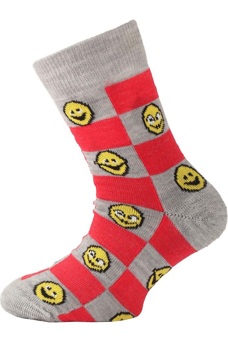 Lasting dětské merino ponožky TJE červené