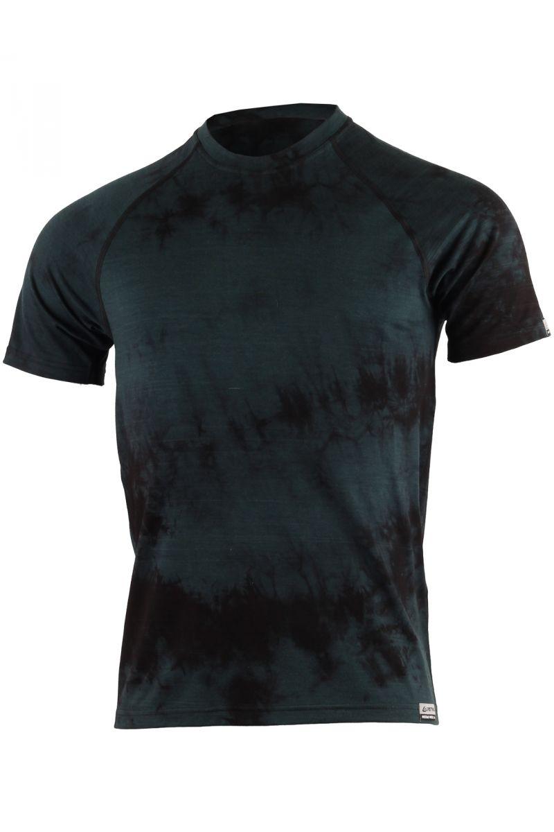 Lasting pánské merino triko BOKOS 9090 černá batika