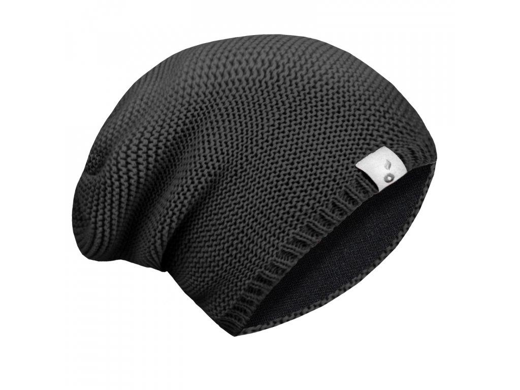Unuo dětská čepice pletená černá