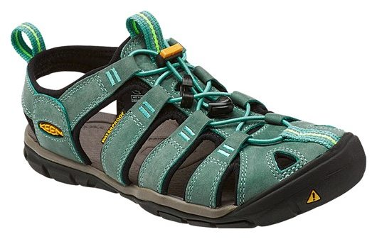 Keen CLEARWATER CNX LEATHER WOMEN mineral blue/yellow