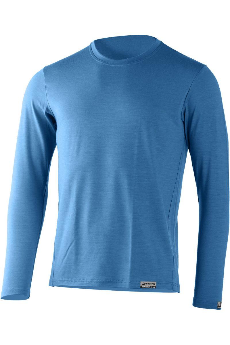 Lasting pánské merino triko ALAN modré
