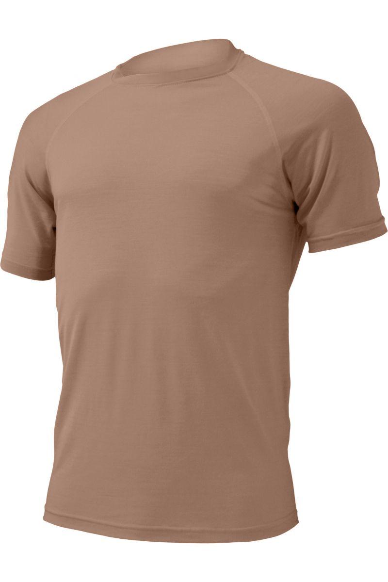 Lasting pánské merino triko QUIDO hnědé