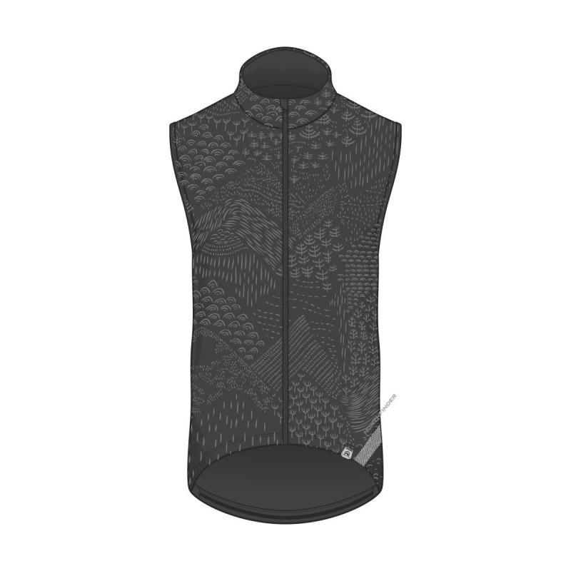 Northfinder cyklistická vesta RIDZERA blackprint VE-4281MB-384
