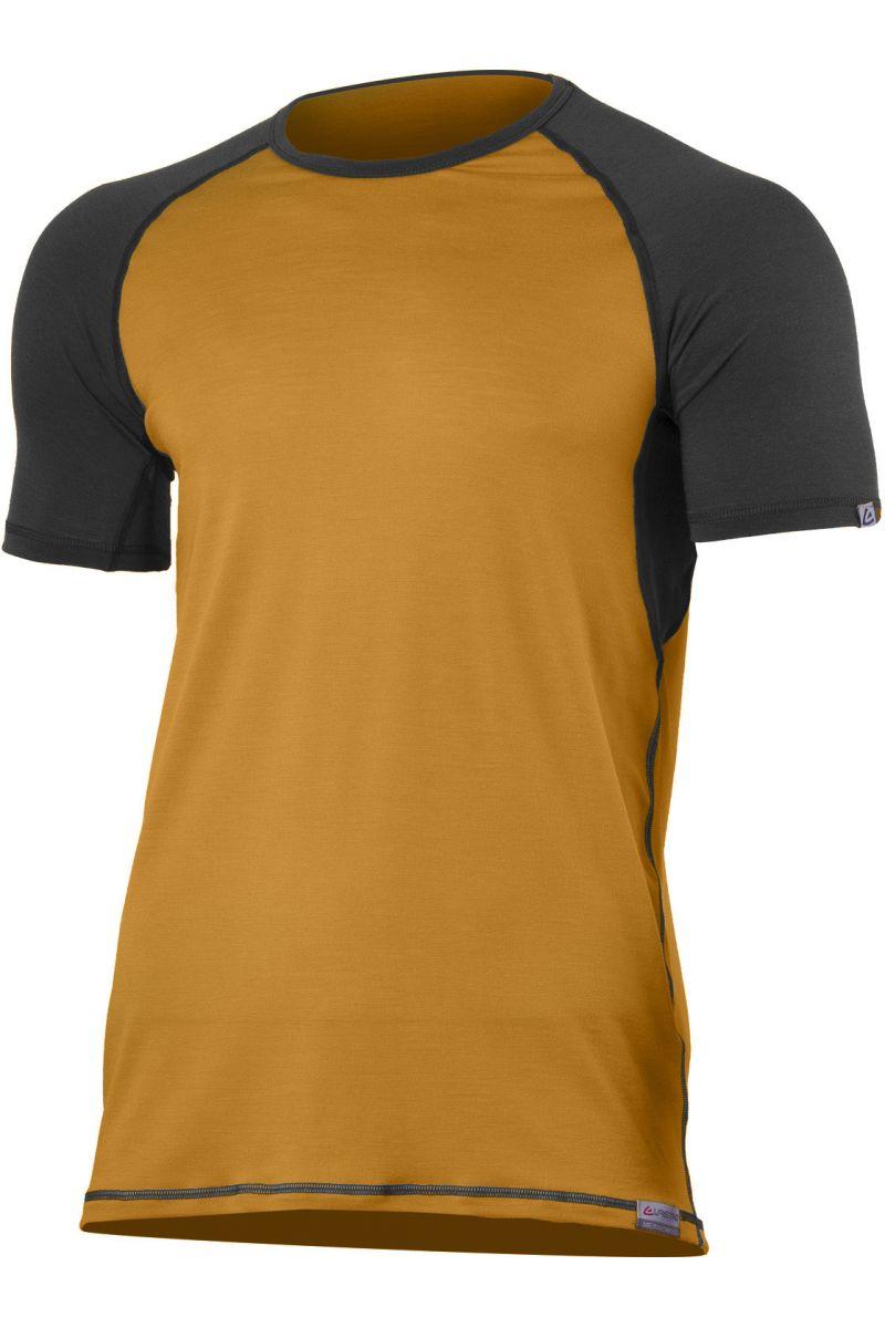 Lasting pánské merino triko OTO hořčicové