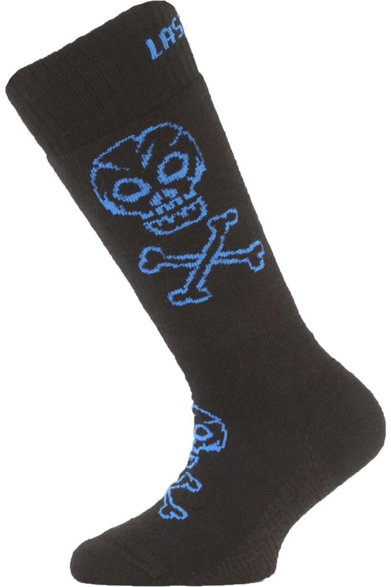Lasting dětské merino lyžařské ponožky SJC černé