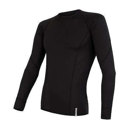 SENSOR COOLMAX TECH pánské triko dl.rukáv černá
