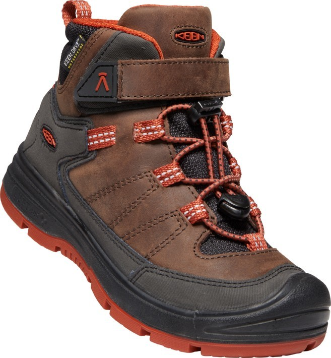 Keen REDWOOD MID WP JR coffee bean/picante