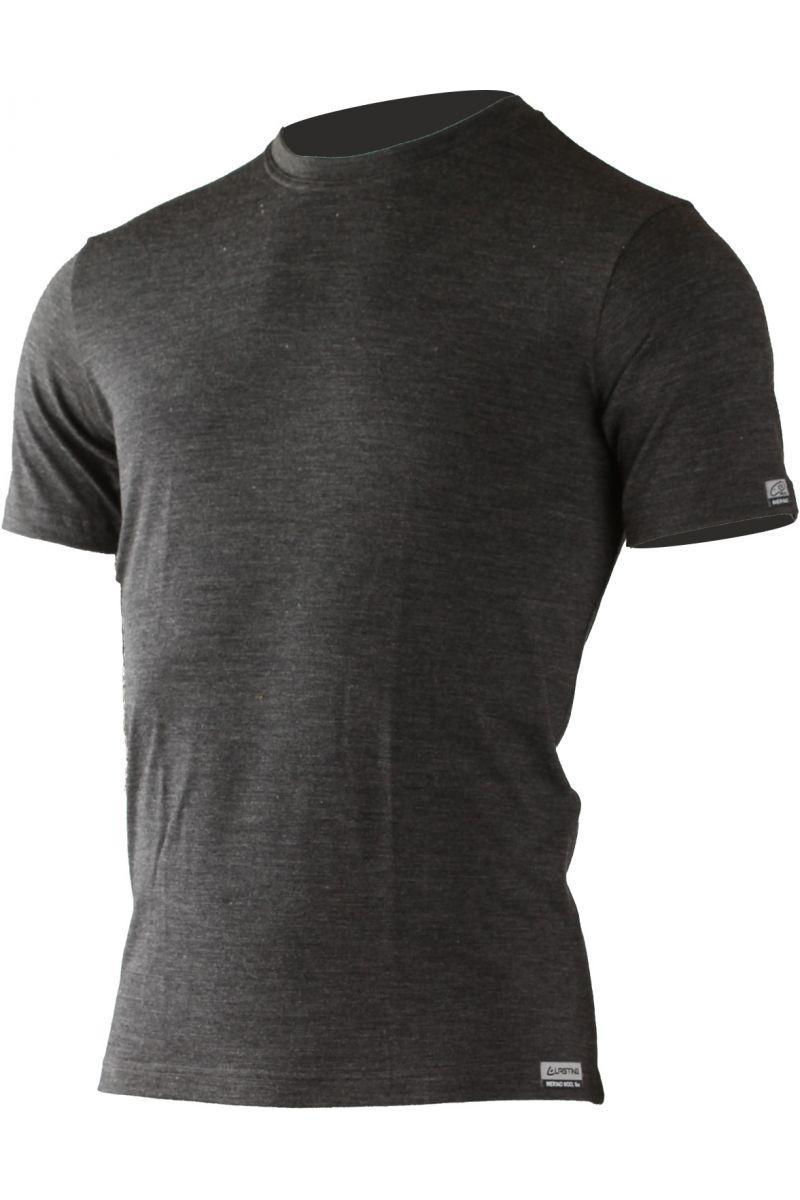 Lasting pánské merino triko QUIDO tmavě šedé