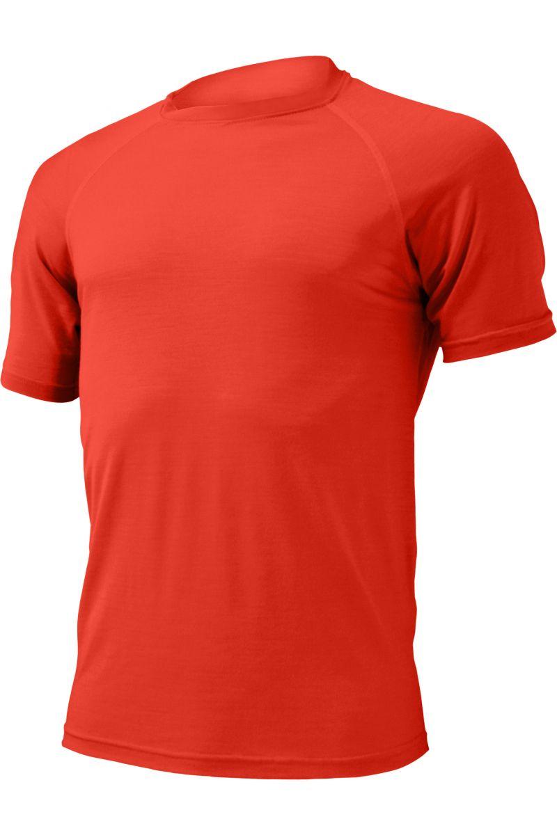 Lasting pánské merino triko QUIDO červená