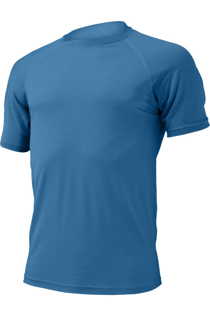 Lasting pánské merino triko QUIDO modré