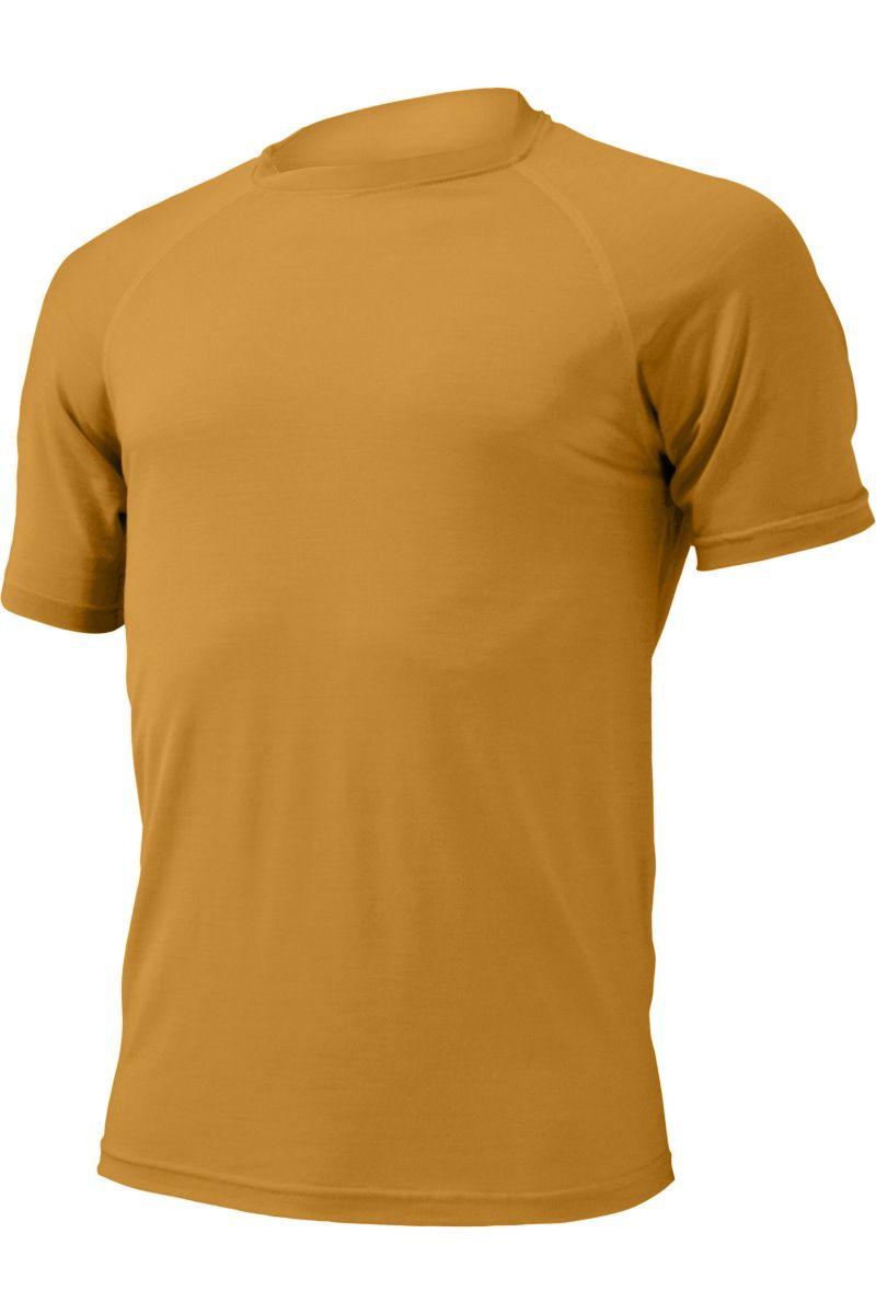 Lasting pánské merino triko QUIDO hořčicové