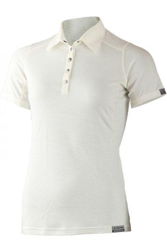 Lasting dámská merino polo košile ERIKA bílá