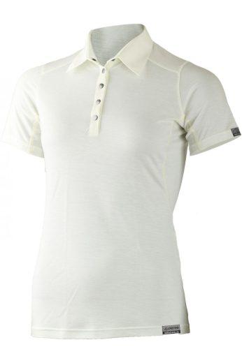 Lasting dámská merino polo košile ALISA bílá