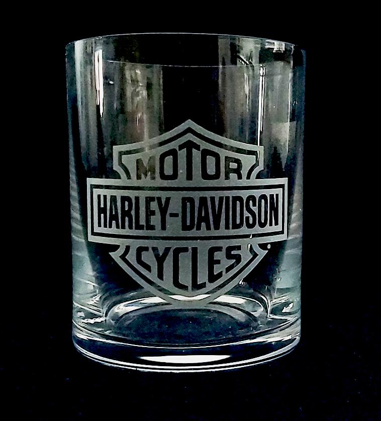 HARLEY DAVIDSON - sklenice na whisky BOHEMIA Crystalite