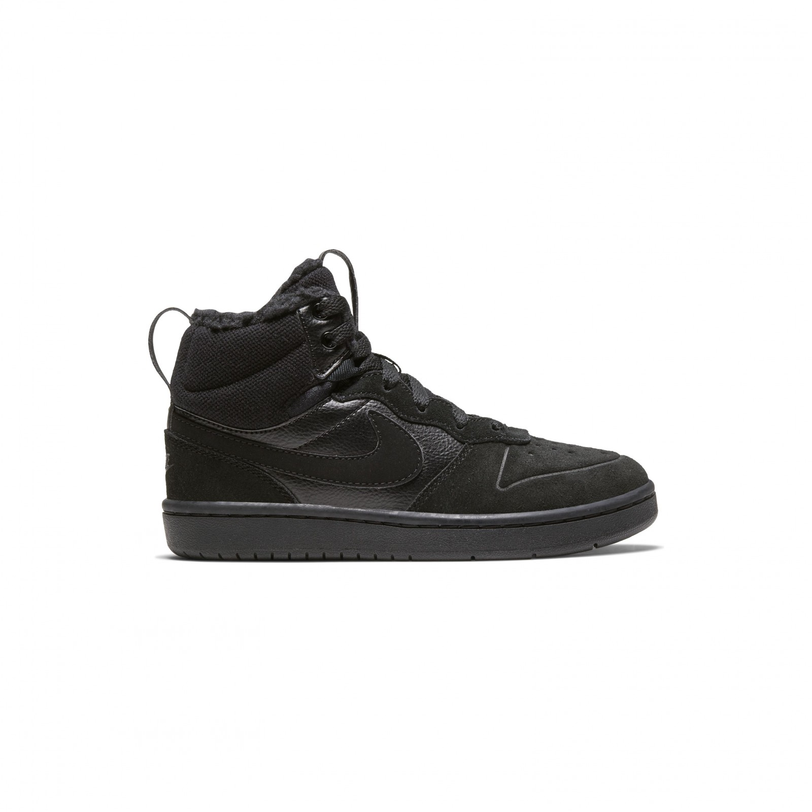Court borough mid 2 boot ps BLACK/BLACK-BLACK