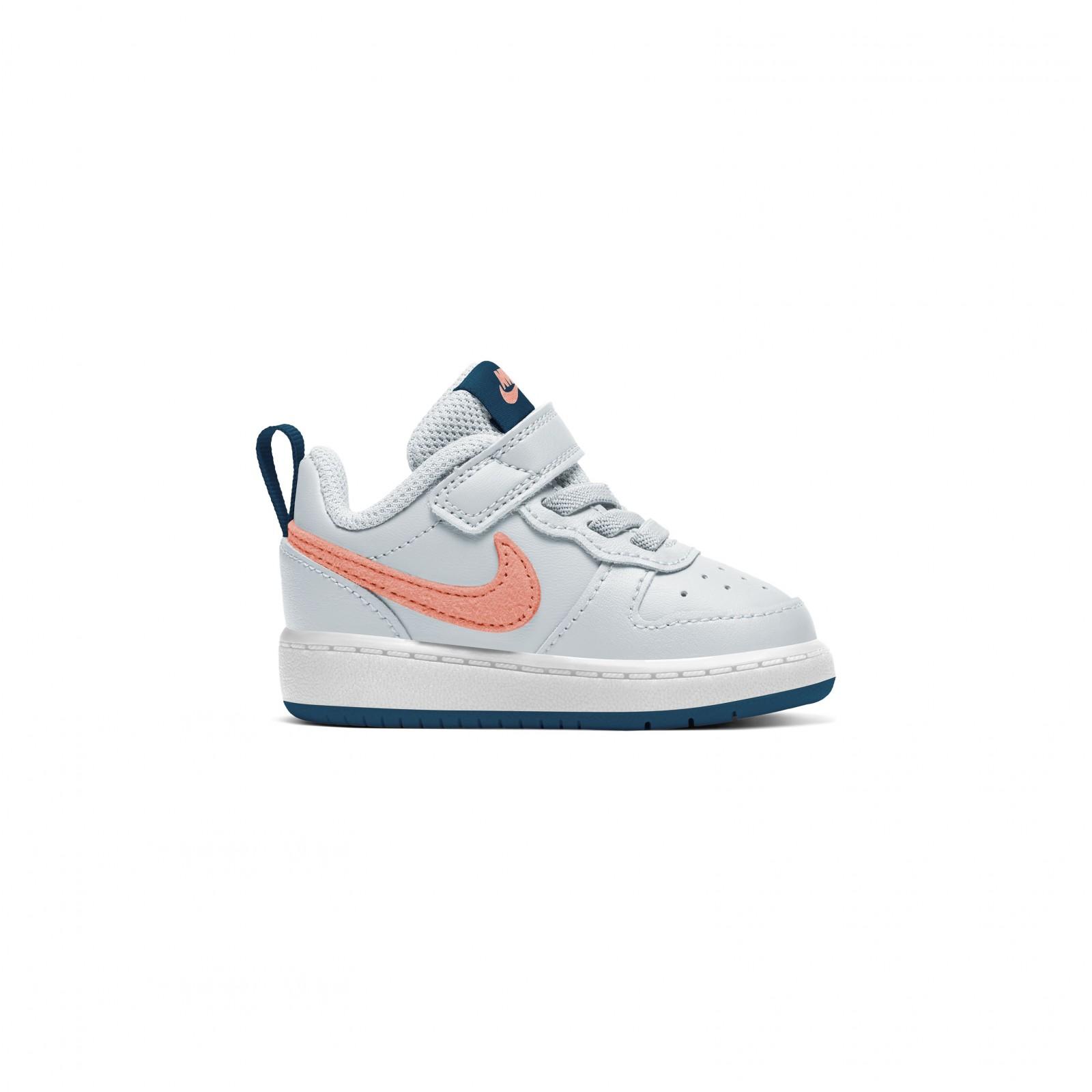 Nike court borough low 2 (tdv) PURE PLATINUM/ATOMIC PINK-VALERIAN BLUE