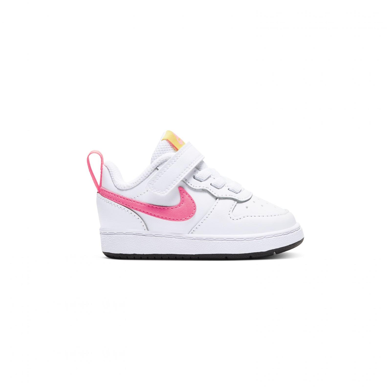 Nike Court Borough Low 2 WHITE/SUNSET PULSE-LT ZITRON-BLACK