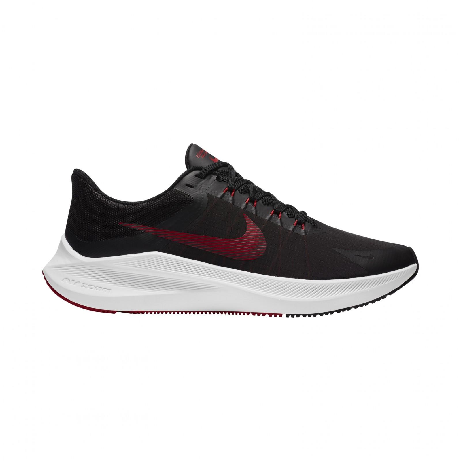 Nike Winflo 8 BLACK/UNIVERSITY RED-LT SMOKE GREY-WHITE