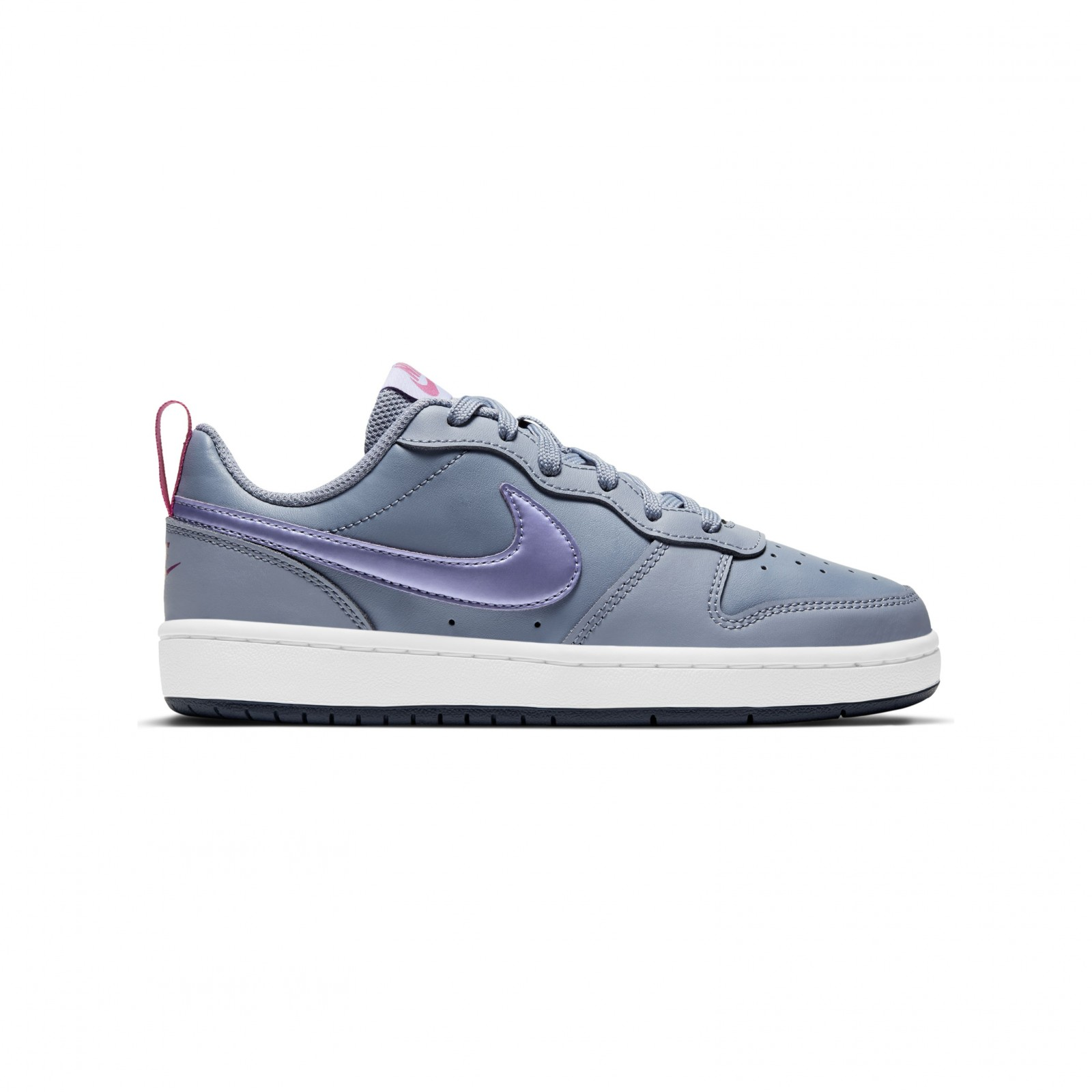 Nike Court Borough Low 2 ASHEN SLATE/PURPLE PULSE-FIREBERRY