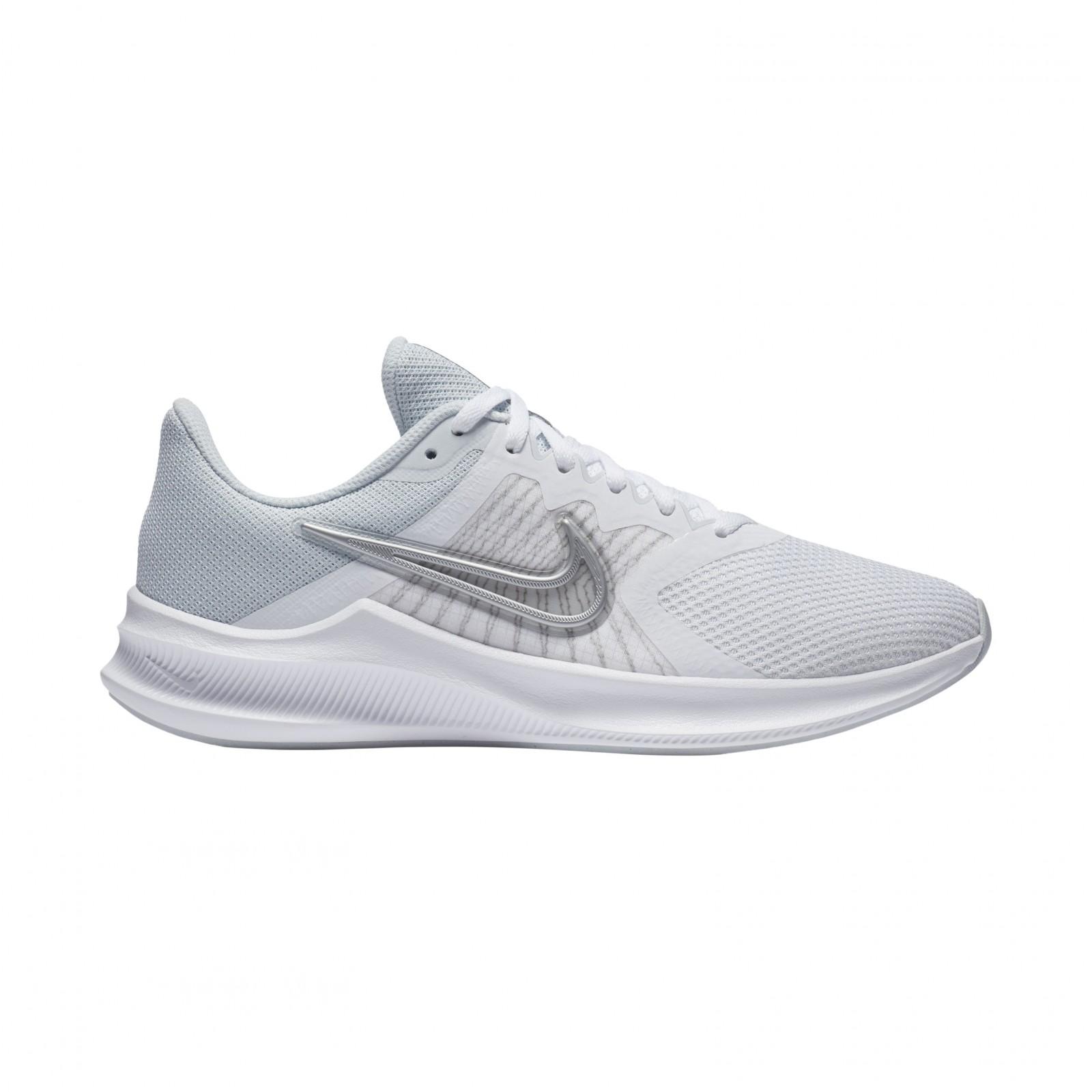 Nike Downshifter 11 WHITE/METALLIC SILVER-PURE PLATINUM