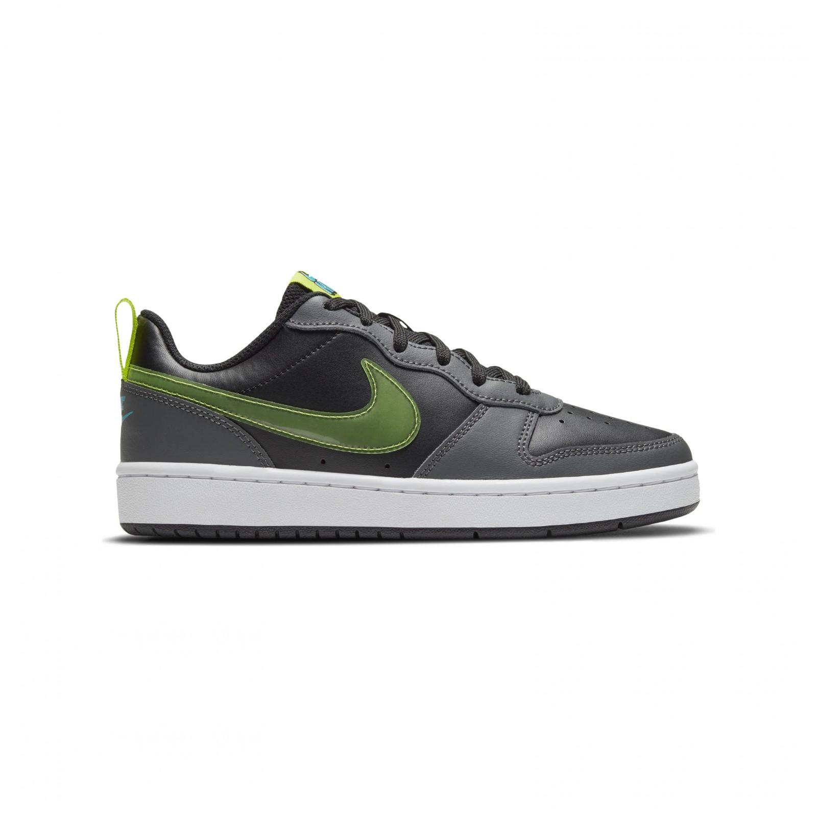 Nike Court Borough Low 2 BLACK/CYBER-IRON GREY-AQUAMARINE