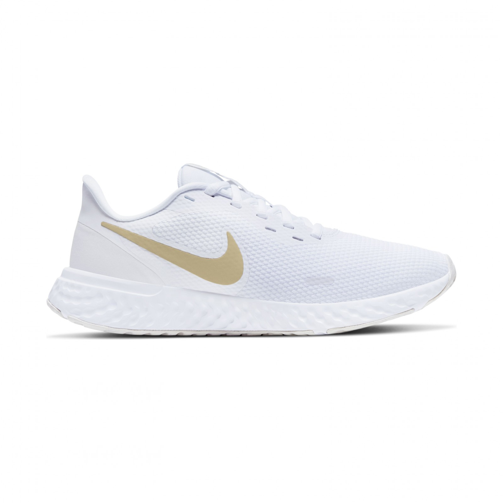 Nike Revolution 5 WHITE/MTLC GOLD STAR-PLATINUM TINT