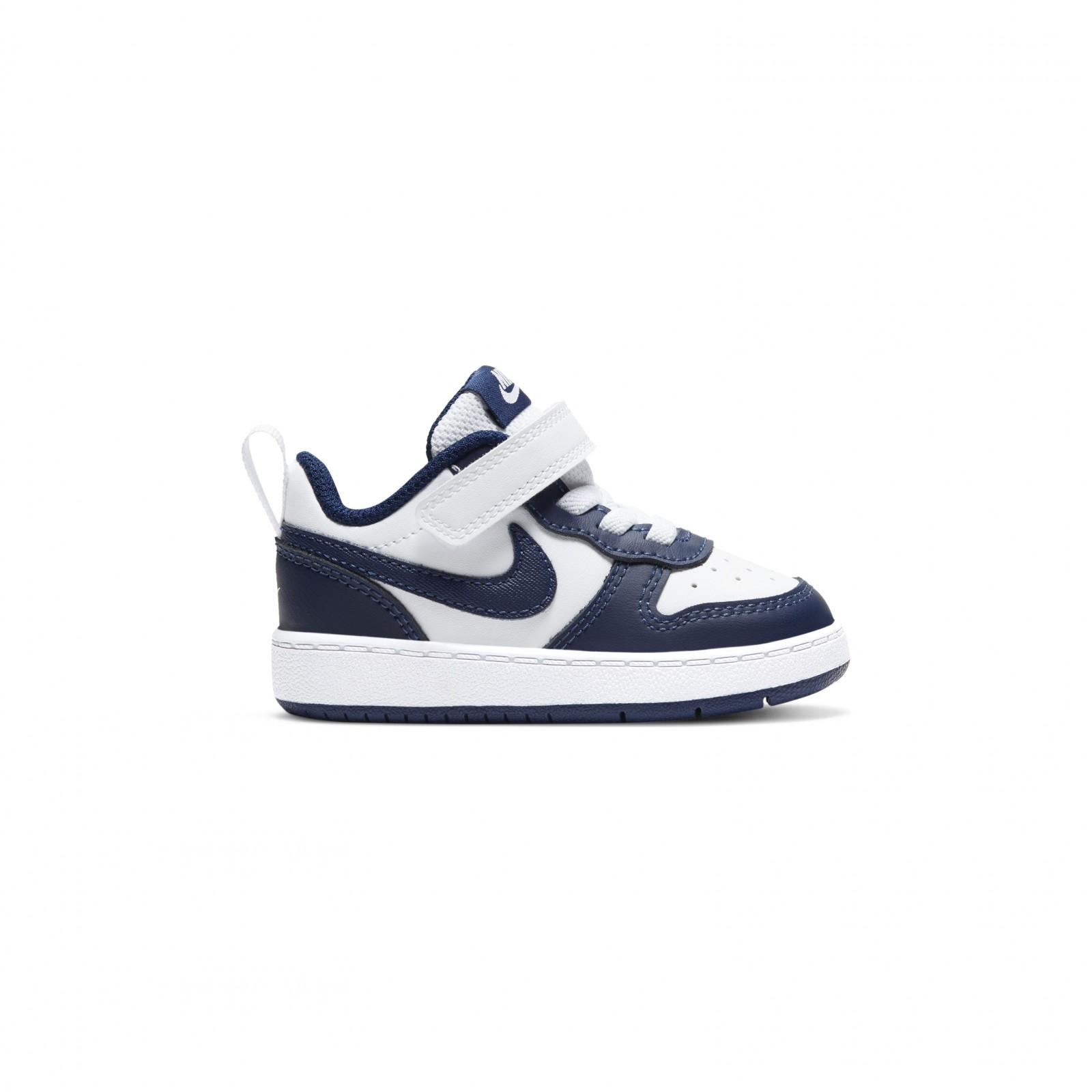 Nike Court Borough Low 2 WHITE/BLUE VOID-SIGNAL BLUE