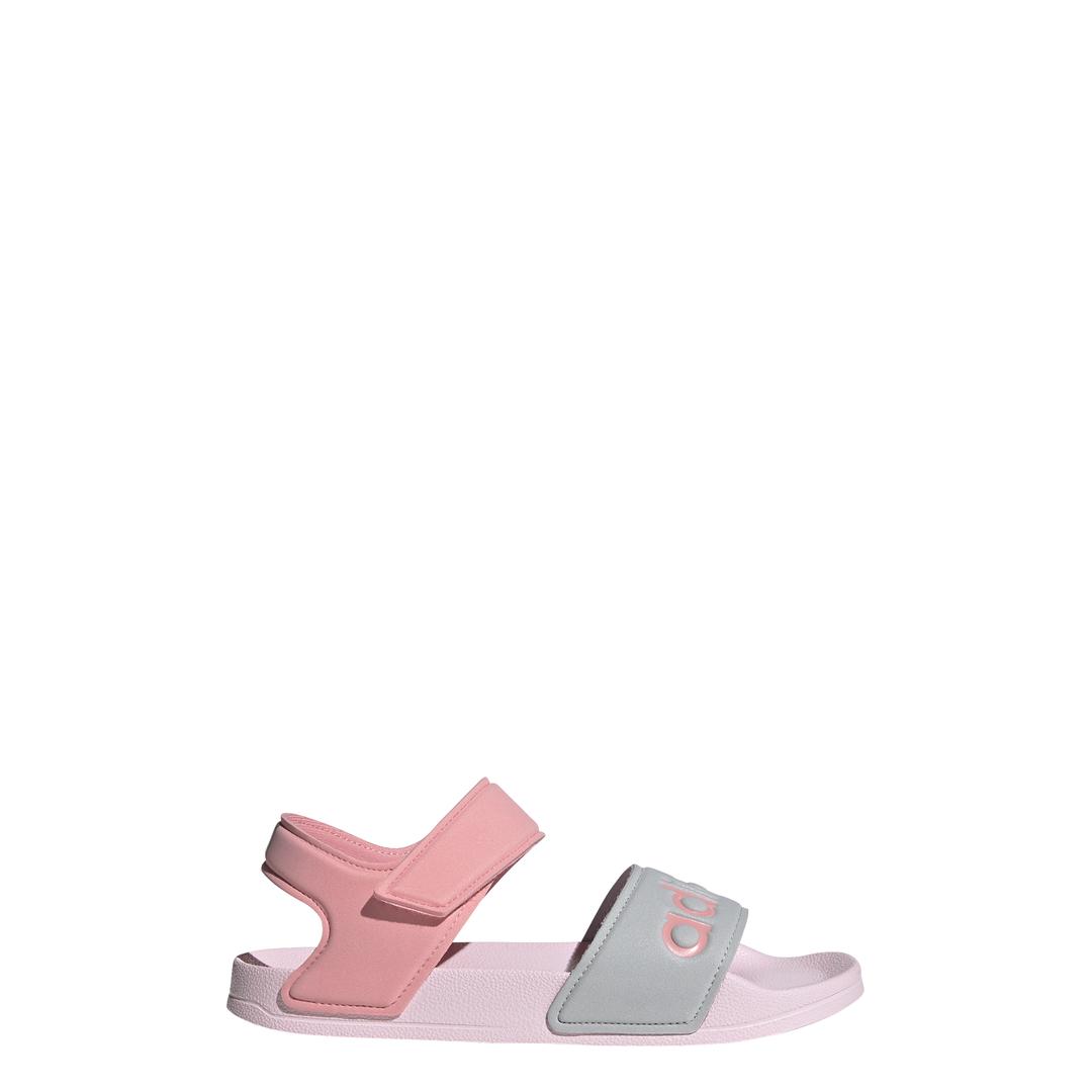 Adilette sandal k CLPINK/SUPPOP/SILVMT