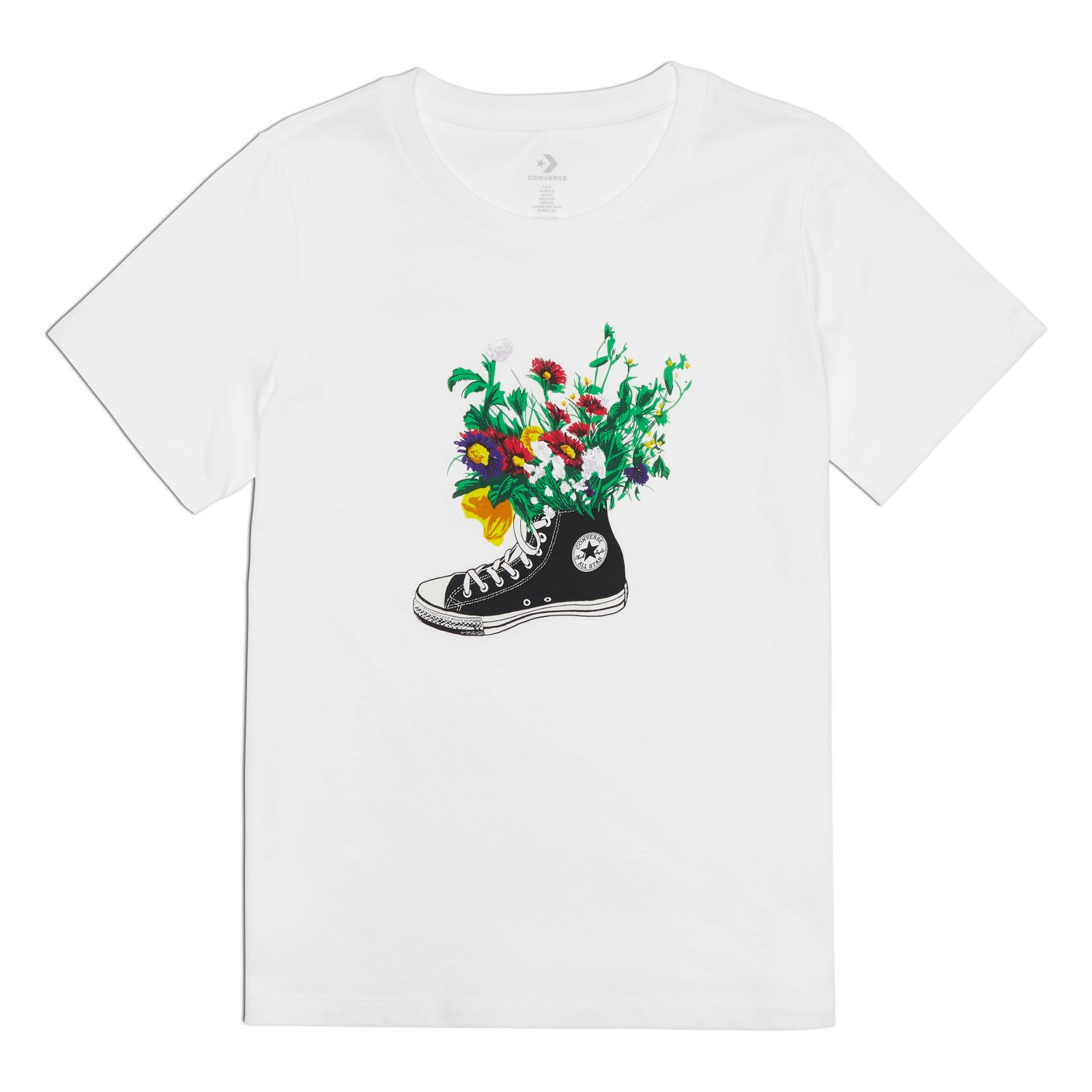 Flowers are blooming tee WHITE