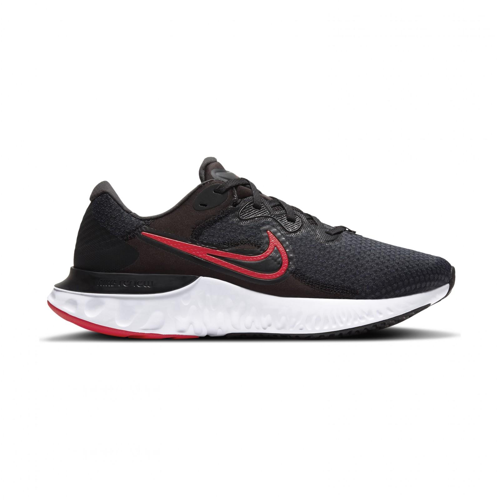Nike Renew Run 2 BLACK/UNIVERSITY RED-DK SMOKE GREY-WHITE