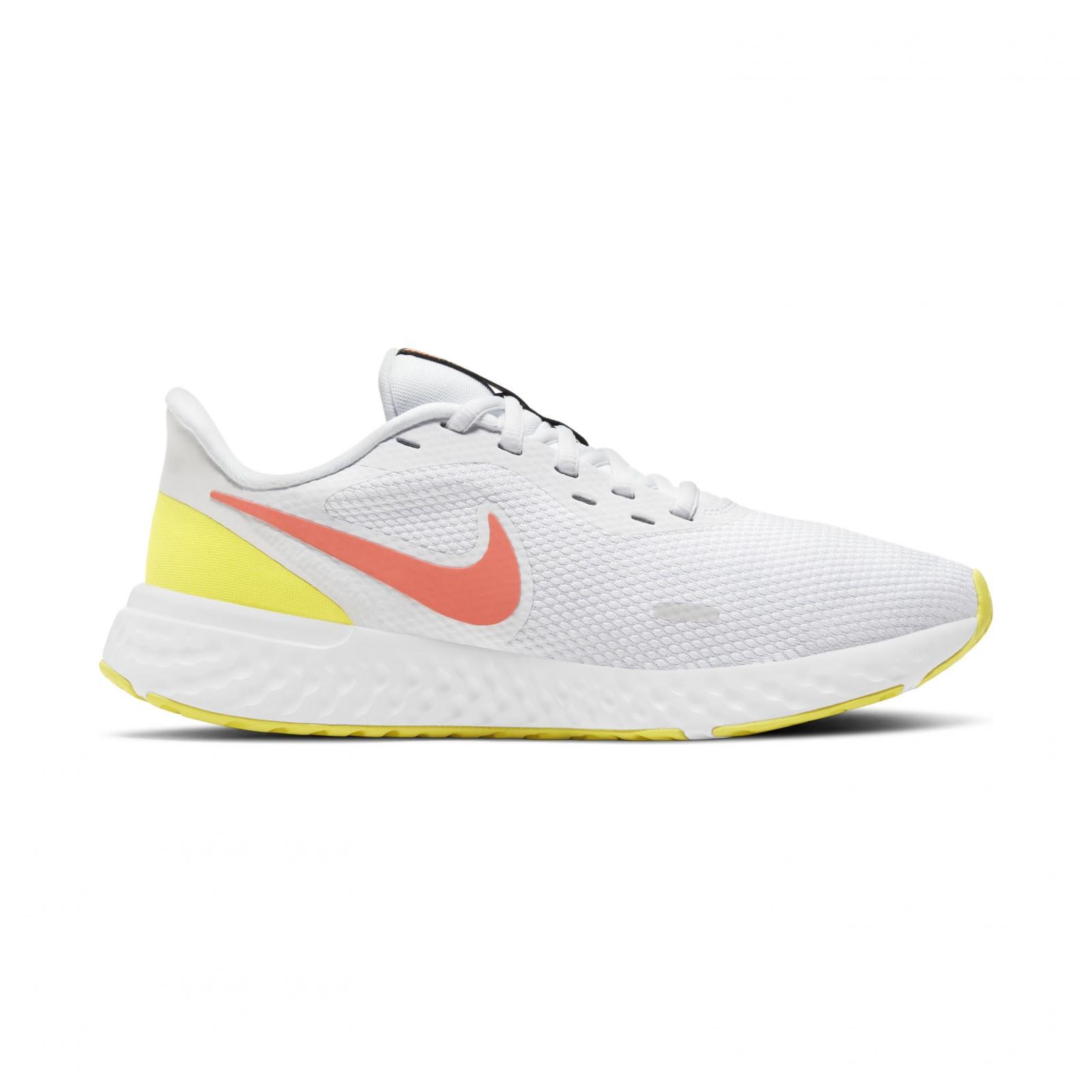 Nike Revolution 5 WHITE/BRIGHT MANGO-LT VLTGE YLW II-BLACK