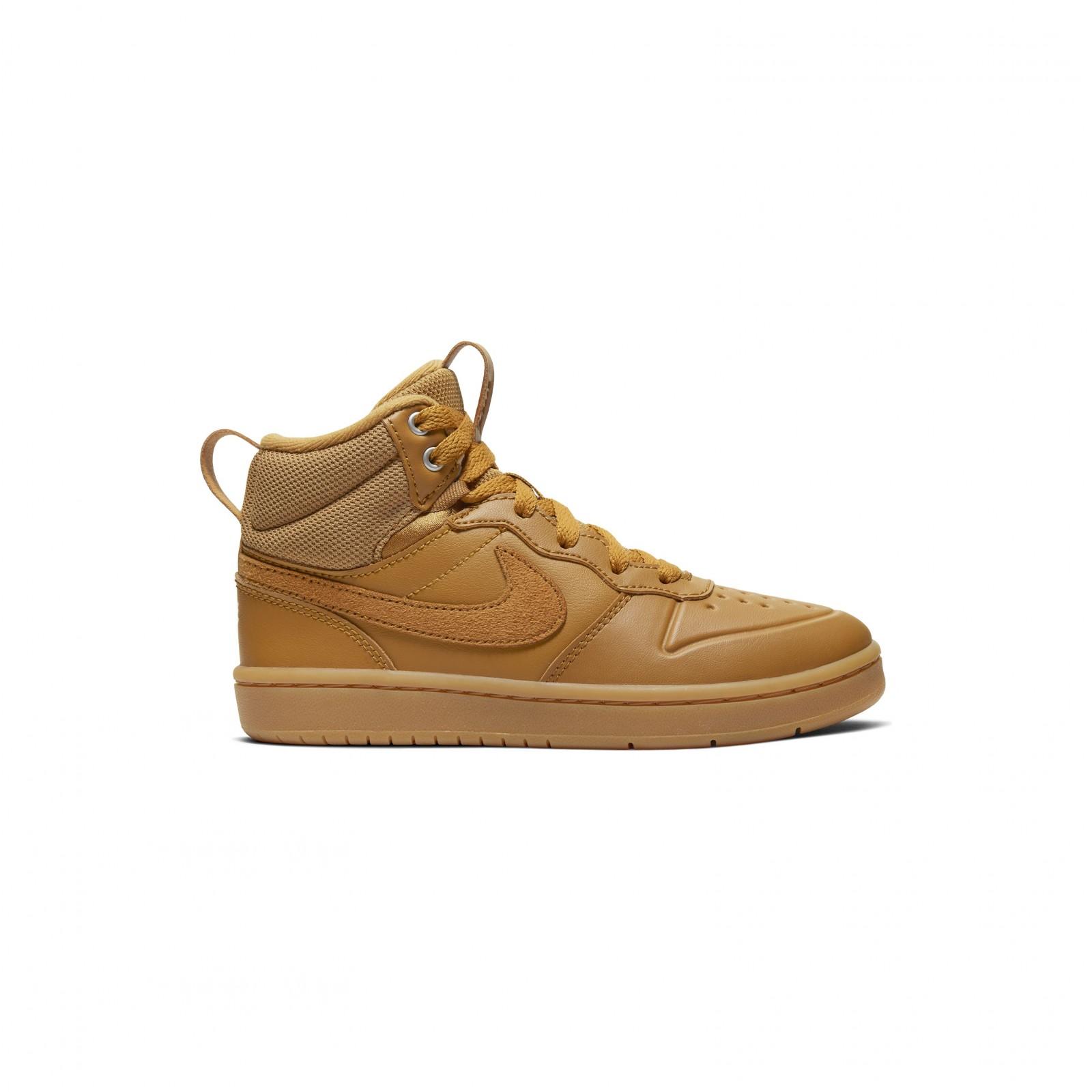 Nike Court Borough Mid 2 WHEAT/WHEAT-GUM MED BROWN
