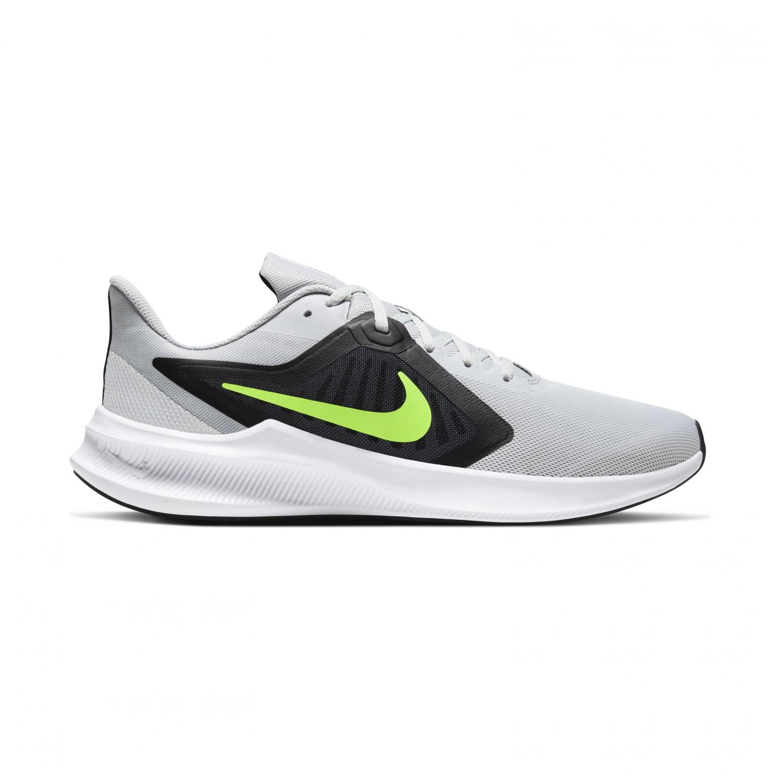 Nike Downshifter 10 GREY FOG/VOLT-BLACK-WHITE