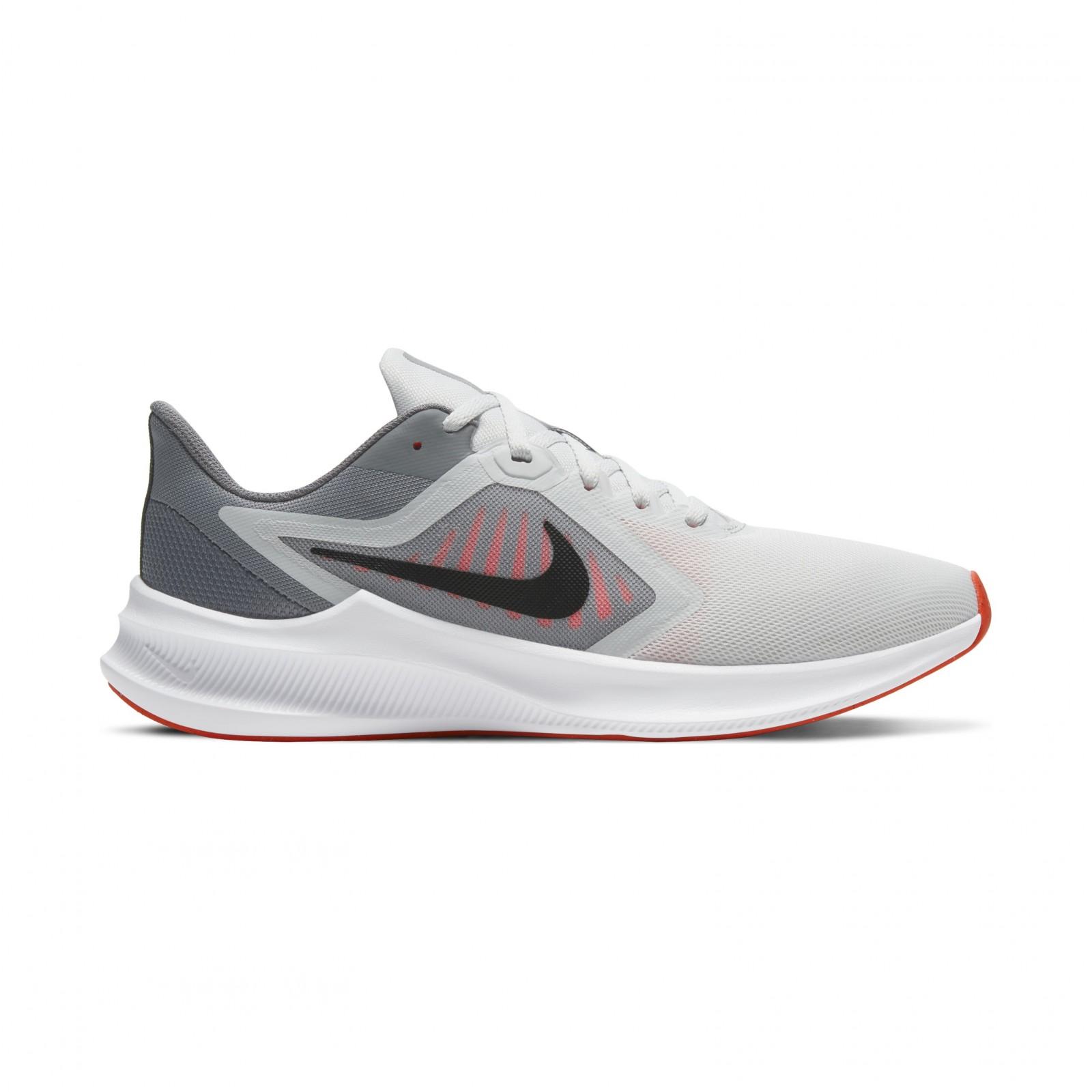 Nike Downshifter 10 PHOTON DUST/BLACK-BRIGHT CRIMSON