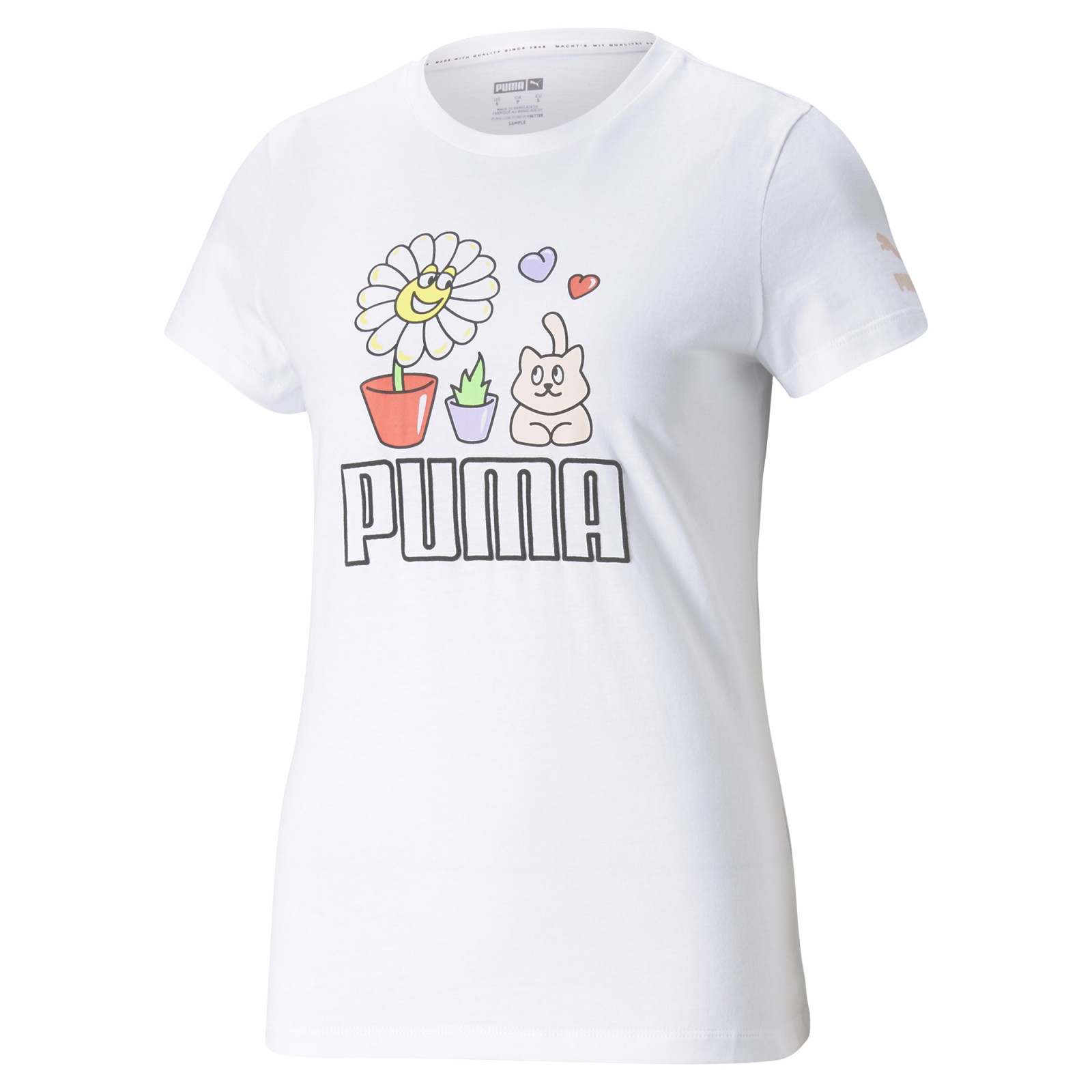 Graphic Tee Summer Streetwear Puma White Puma White