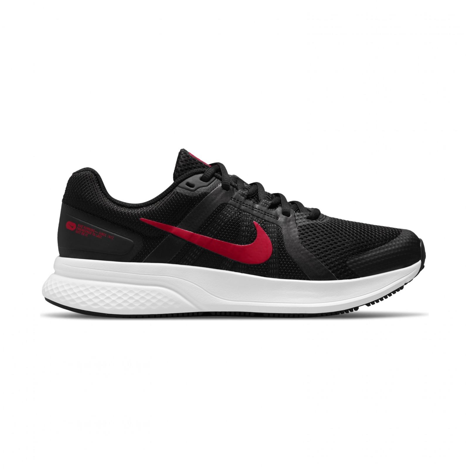 Nike run swift 2 black/white/red