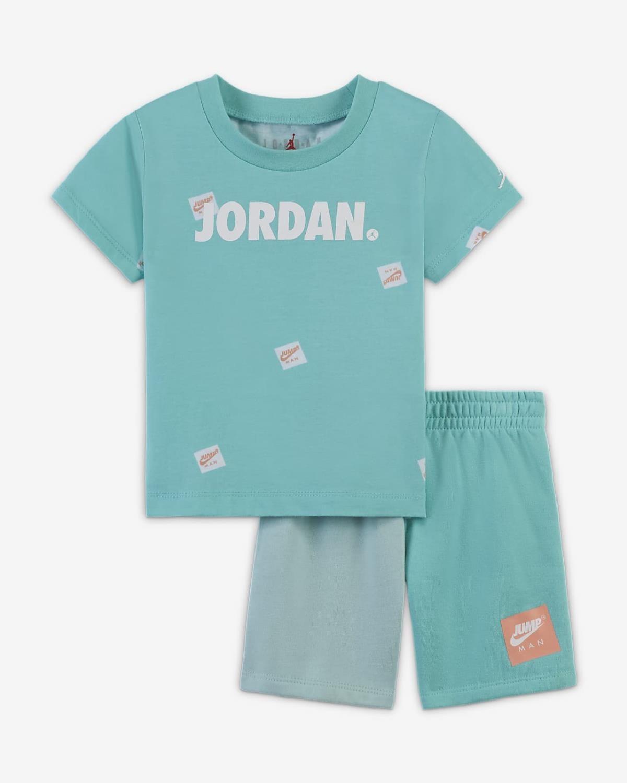 Jdb jumpman box tee/short set TROPICAL TWIST