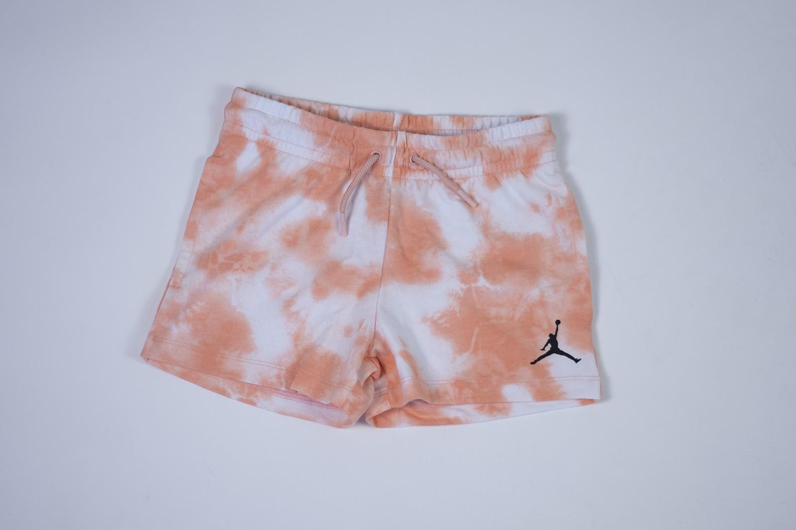 Jordan girls tie dye shorts ORANGE