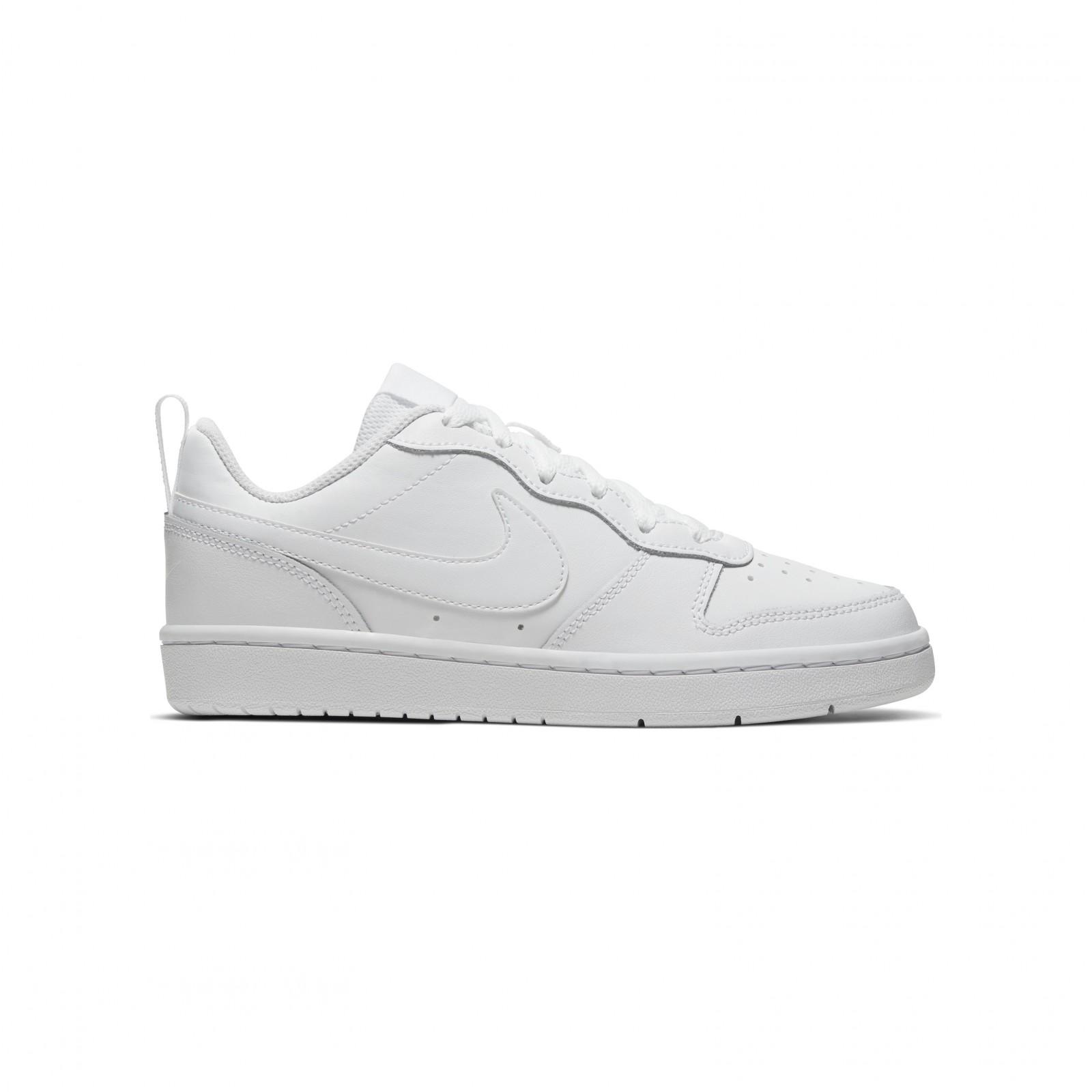 Nike court borough low 2 (gs) WHITE/WHITE-WHITE