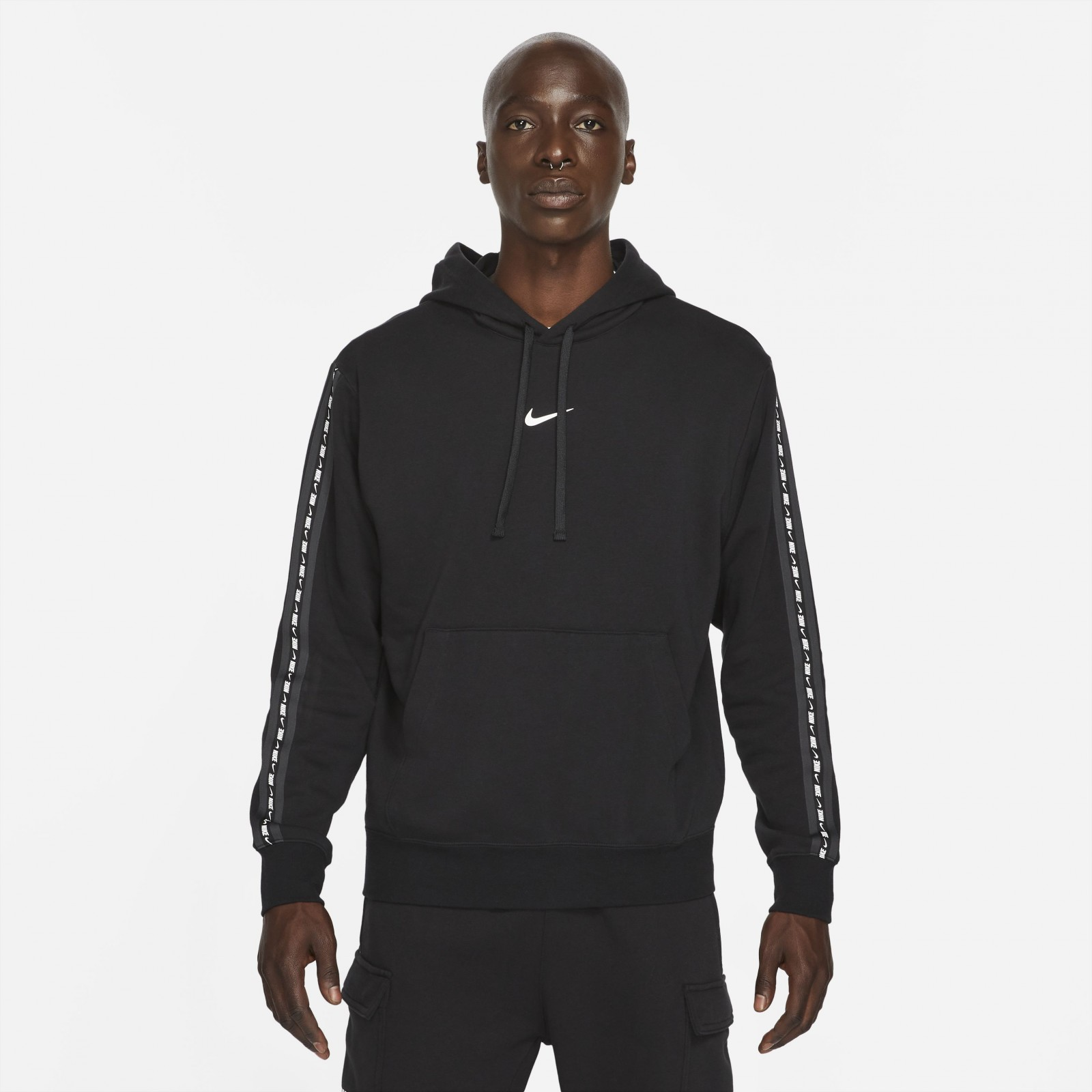 M nsw repeat flc po hoodie bb BLACK