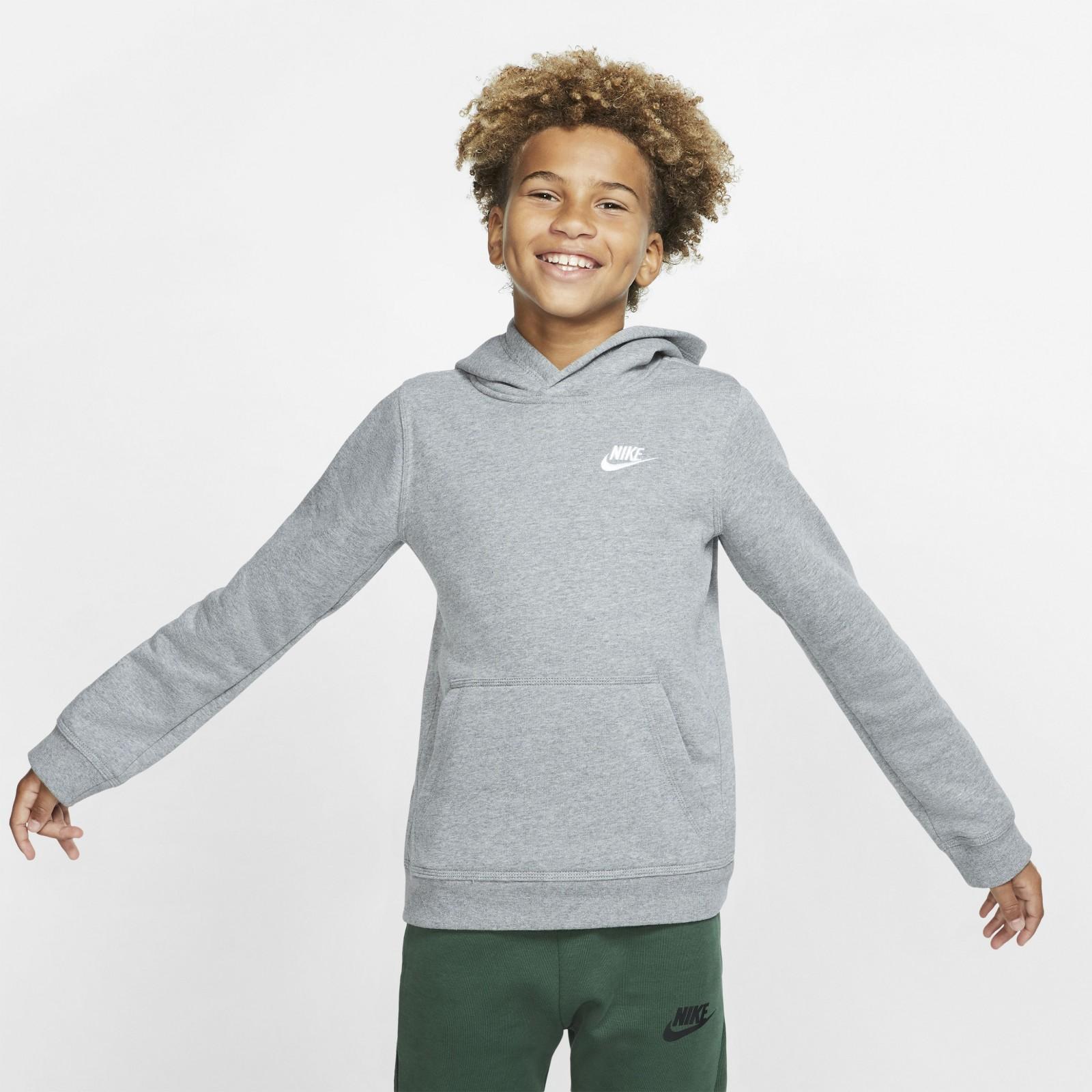 Nike Sportswear Club CARBON HEATHER/WHITE