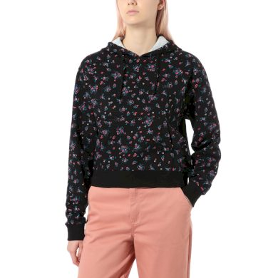 Wm beauty floral hoodie Black