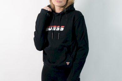 Hooded sweatshirt guess Jet Black A996