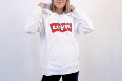 Graphic sport hoodie HOUSEMARK HOODIE WHITE