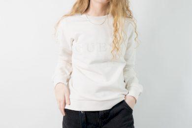Guess sweatshirt WHITE BLUSH