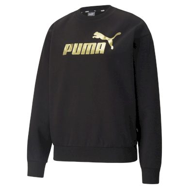 Puma ESS+ Metallic Logo Crew FL Puma Black-Gold