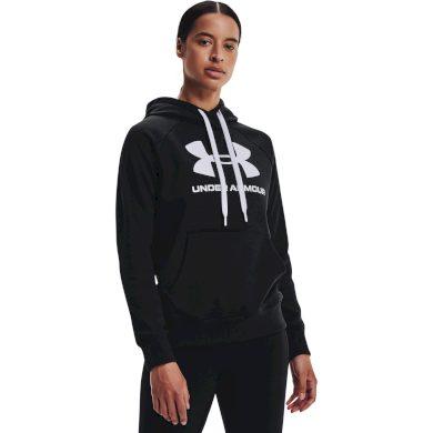 Under Armour Rival Fleece Logo Hoodie Black / White / White