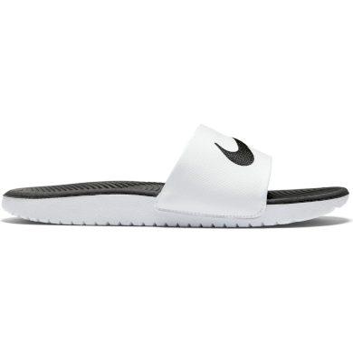 Nike kawa slide (gs/ps) WHITE/BLACK