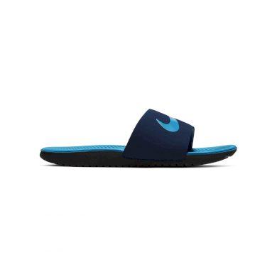 Nike kawa slide (gs/ps) MIDNIGHT NAVY/LASER BLUE-BLACK